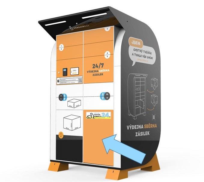 Výdejní box půjčovny čističů koberců